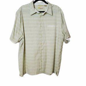 Cubavera Striped Short Sleeve Button Up Camp Shirt